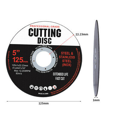 AU42.50 • Buy 50 Cutting Disc 5  Inch 125mm Metal Cut Off Wheel Angle Grinder PCS Pieces Thin