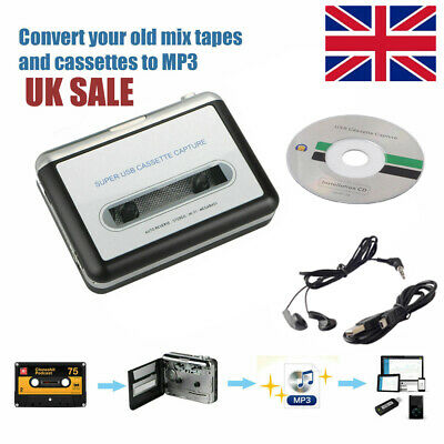 £15.89 • Buy USB Tape To PC Cassette To MP3 Converter Captue Adapter Audio Music Player UK
