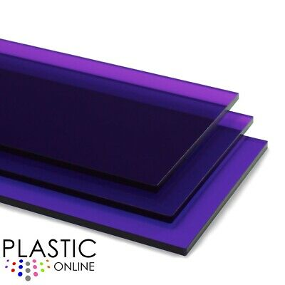 £0.99 • Buy Purple Tint Perspex Acrylic Sheet Colour Plastic Panel Material Cut To Size