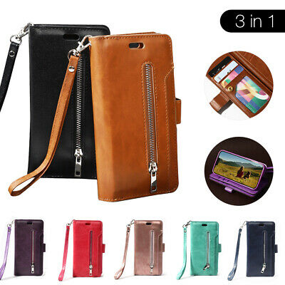 AU13.95 • Buy Leather Zip Card Holder Stand Wallet Flip Case Cover For IPhone 11 12 XR XS MAX