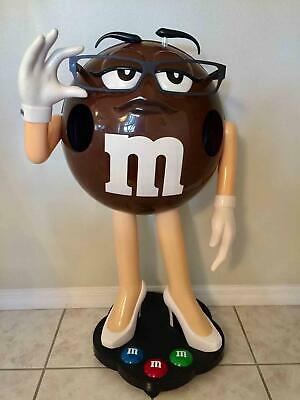$279.99 • Buy RARE Sexy Brown M&M's Display Figure On Wheels 42  Character Store Display