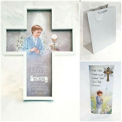 £27.99 • Buy Boy's First Holy Communion Gift & Greeting Card Set (3 Piece Set)