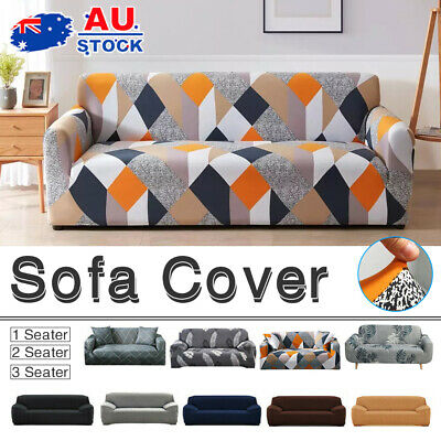 AU18.50 • Buy Sofa Cover Couch Lounge Protector Slipcovers High Stretch Covers 1/2/3/4 Seater