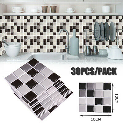 £5.68 • Buy 30X Kitchen Tile Stickers Mosaic Sticker Self-adhesive Wall Decal Bathroom Decor
