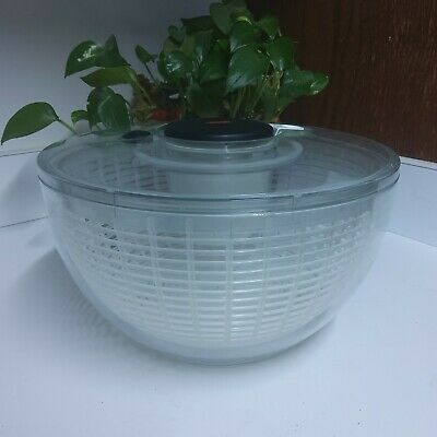 £10.62 • Buy OXO Good Grips Salad Spinner Large 10.5 Inch Used Clear White/Black