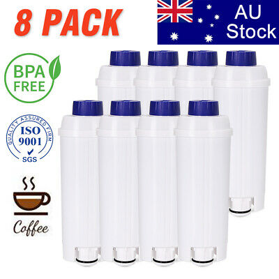 AU69.99 • Buy 8PCS DLS C002 DLSC002 Water Filter For DeLonghi Eletta ECAM45760W Coffee Maker