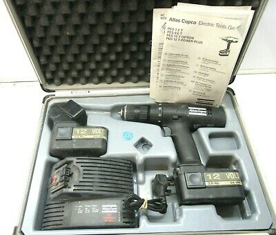 £45 • Buy Atlas Copco Pes12T Cordless Drill /Driver 12V & Charger, 2 X Battery & Case