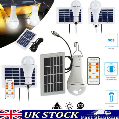 £10.67 • Buy Solar Panel Powered LED Light Bulb Portable Outdoor Camping Tent Fishing Lamp UK
