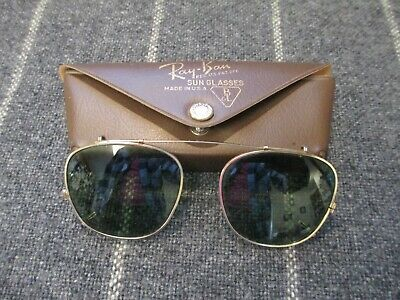 AU53.38 • Buy VINTAGE Ray-Ban Clip-On Style Sunglasses ~ By Bausch & Lomb ~ 46mm  W/ Case