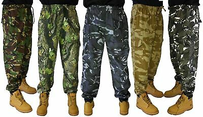 £18.99 • Buy Camouflage Joggers Camo Jogging Pants Trouser Fleecy Gym WEAR Sport