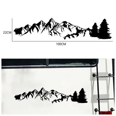 $14.30 • Buy Mountain Range Carved Graphic Decal Sticker For Car Truck Exterior Accessories