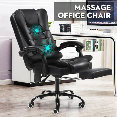 AU109.99 • Buy Massage Racing Gaming Office Chair Executive Computer Chairs PU Leather Recliner