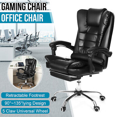 AU93.94 • Buy Ergonomic Office Gaming Chair Executive Computer Desk Seat Chair Swivel Recliner