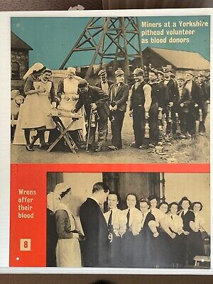 £15 • Buy WW2 Ministry Of Information Blood Transfusion Cardboard Poster Miners WRENS