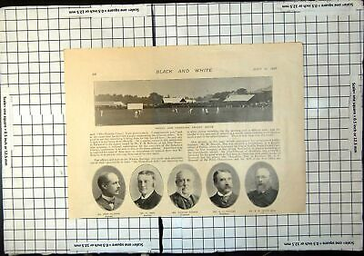 Antique Old Print Oxford Cambridge Cricket Match Portraits Gilmour Peel 1897 • 15£