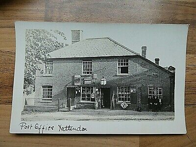 Pre 1914 Real Photo Postcard Of Yattendon Post Office, Berkshire • 9.50£
