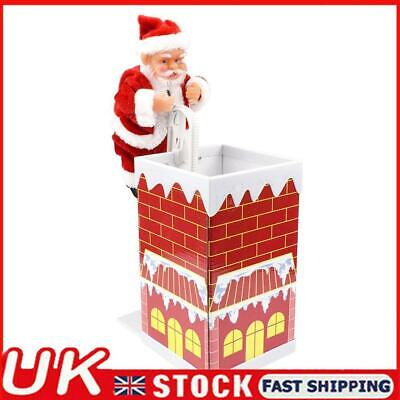 £12.18 • Buy Santa Claus Climbing Chimney Doll Electric Toy With Music Christmas Gifts