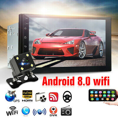 AU128.99 • Buy  7'' 2 DIN Car Stereo Android 8.0 MP5 Player GPS Navi WIFI USB Head Unit Camera