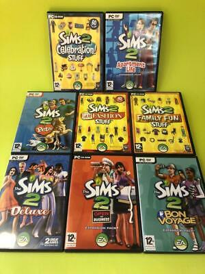 £34.99 • Buy The Sims 2 PC CD-Rom Base Game Stuff H&M Apartment Life Pets Expansion Packs X 7