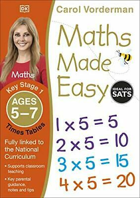 £5.63 • Buy Maths Made Easy Times Tables Ages 5-7 Key Stage 1 (M By Carol Vorderman New Book