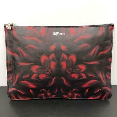 AU369.47 • Buy Alexander McQueen Auth Skull Charm Flower Leather Clutch Bag Used From Japan