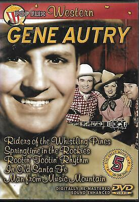 £10 • Buy Gene Autry Pop Flix Western Collection #2 DVD Man From Music Mountain Etc.
