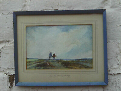 £18 • Buy Vintage 1940s/50s Glazed Framed Watercolour Painting - 'over The Moors, Whitby'