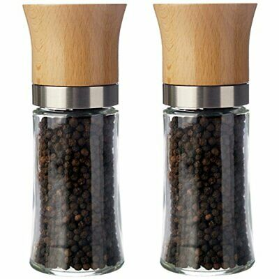 £29.99 • Buy Pepper And Salt Mill Set Of 2 With Adjustable Ceramic Grinder Chili - Without