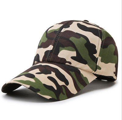 £2.49 • Buy Mens Womens Camouflage Army Hat Camo Combat Outdoor Fishing Travel Baseball Cap