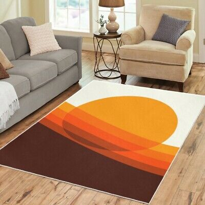 £61.20 • Buy Mod Area 70s Rugs Retro Vintage Funky Pattern Boho Carpet-3 Sizes To Choose From