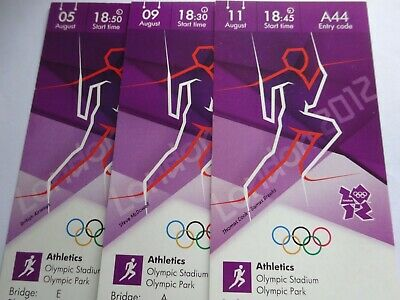 £74.99 • Buy London 2012 Olympic Games USAIN BOLT 3 X ORIGINAL GOLD MEDAL TOP PRICE TICKETS !
