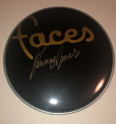 £99.99 • Buy Signed Kenney Jones Faces Black Drum Head Rare Proof Authentic Small Faces