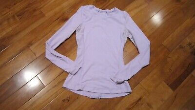 $ CDN95.84 • Buy LULULEMON Run Dash Long Sleeve Tee In Lavender Size 4 Ruffle Back