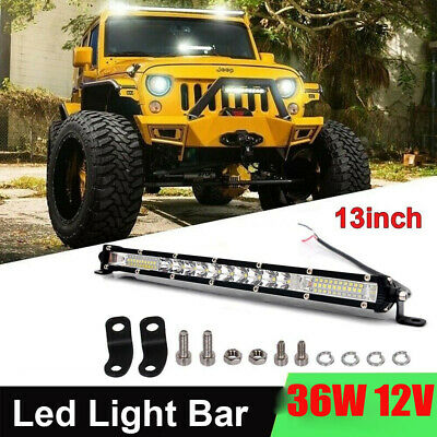 AU34.99 • Buy 13inch 36W LED Light Bar Spot Offroad Driving SUV ATV Lamp Truck Toyota 4WD Ford