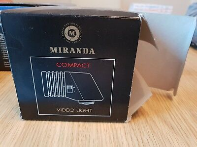 Miranda Vintage Compact 6v 20w Camera Video Camcorder Flash Gun Light Mountable • 8.50£