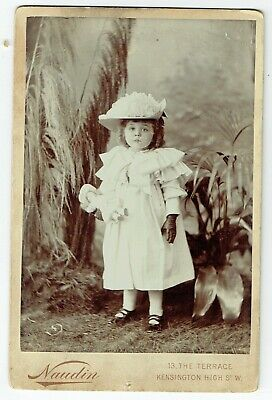 Victorian Cabinet Photo Small Girl Holding Doll  London Photographer • 5£
