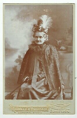 Victorian Cabinet Photo Elderly Lady Feathered Hat Wells Somerset  Photographer • 3.92£