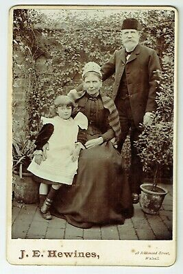 Victorian Cabinet Photo Elderly Couple & Girl Walsall  Photographer • 3.50£