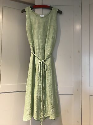Brora Linen Checked Dress Size 14 - Spring Treat, Sleeveless, Below Knee Beauty • 55£