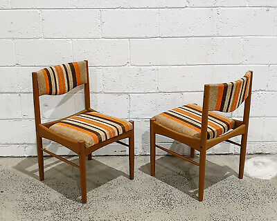 AU550 • Buy Mid Century Modern Teak Dining Side Chairs By Chiswell Furniture Retro Vintage