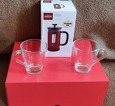 Creative Gift Box Red Set - La Cafetiere Pisa 3-Cup Coffee Maker Metallic Red • 34.99£