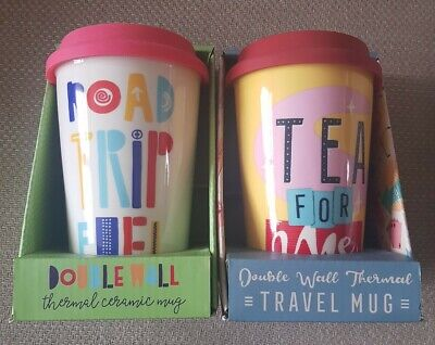 £7.99 • Buy Ceramic Travel Mug Silicone Thermal Hot Coffee Tea Cup Drink Reusable Unisex