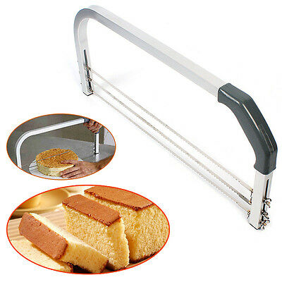 Adjustable Wire Cake Slicer Cutter Leveller Decorating Bread Wire Decor Tool • 28.88£