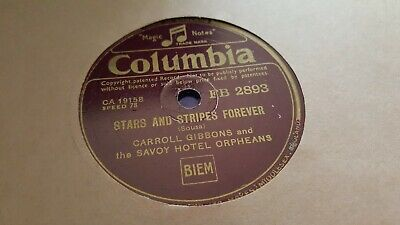 £2.99 • Buy Caroll Gibbons & Savoy Hotel Orpheans Stars And Stripes Forever Col Fb2893