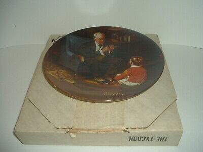 $ CDN15.09 • Buy Edwin Knowles Norman Rockwell The Tycoon Plate With Box