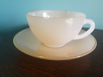 Arcopal Harlequin Cup And Saucer Peach / Orange • 3£