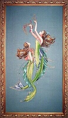 £14.50 • Buy MD85 Mermaids Of The Deep Blue Counted Cross Stitch Chart Pack From Mirabilia