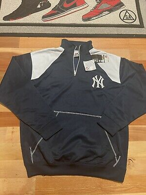 $40 • Buy NWT Majestic New York Yankees 1/4 Zip Jacket Size 4XL Embroidered Pullover