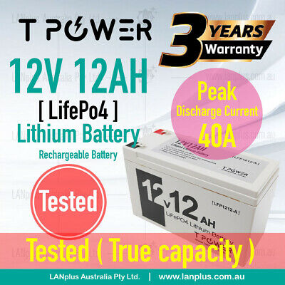 AU139 • Buy New 12V 12Ah LiFePO4 Lithium Rechargeable Battery Same Size As 12v 7AH 12v 9AH