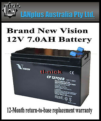 AU39 • Buy New VISION CP1270EB 12V 7Ah Rechargeable SLA Battery UPS Alarm Toy NBN CP1270